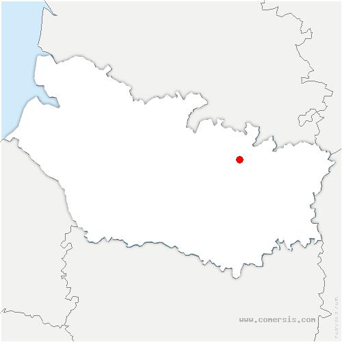 carte de localisation de Bécordel-Bécourt