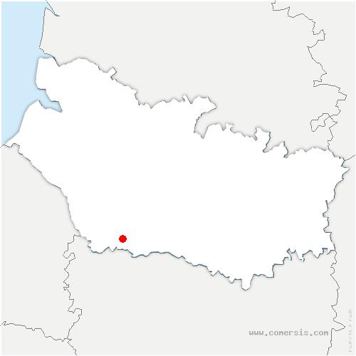 carte de localisation de Bergicourt