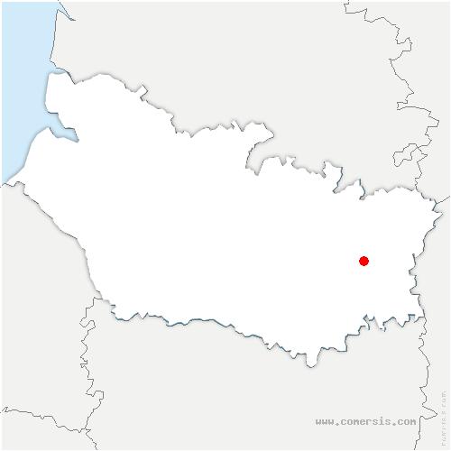 carte de localisation de Berny-en-Santerre