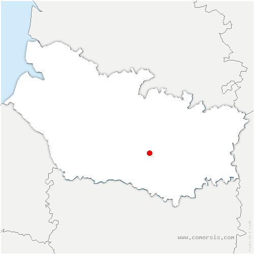 carte de localisation de Berteaucourt-lès-Thennes