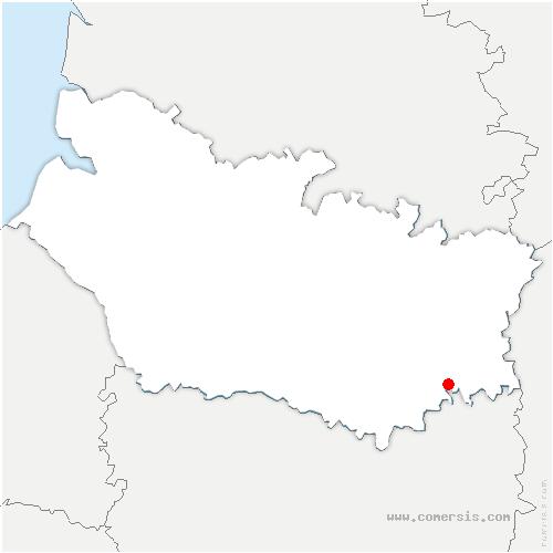 carte de localisation de Biarre