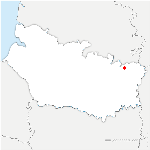 carte de localisation de Bouchavesnes-Bergen