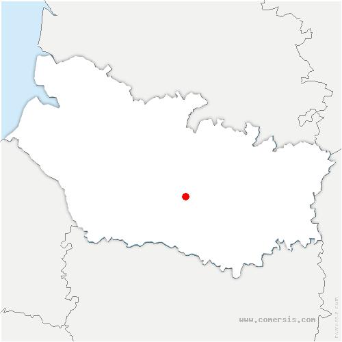 carte de localisation de Boves