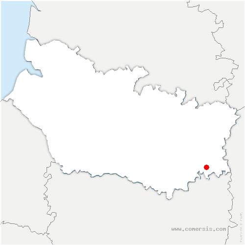carte de localisation de Breuil