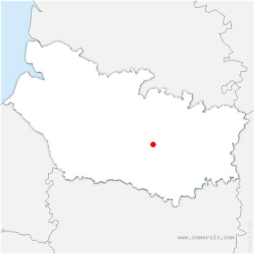 carte de localisation de Cachy