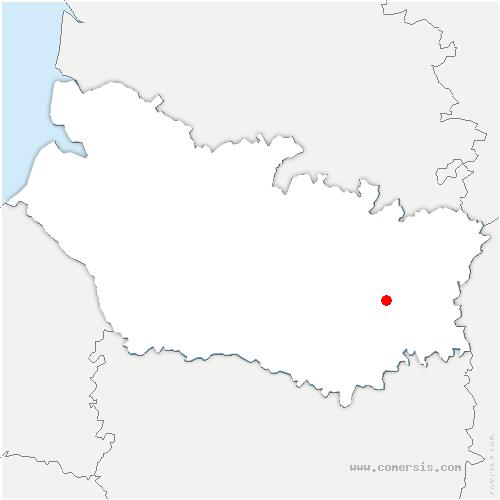 carte de localisation de Chaulnes