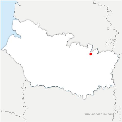 carte de localisation de Contalmaison