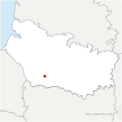 carte de localisation de Courcelles-sous-Moyencourt
