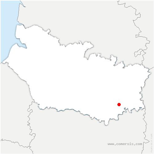 carte de localisation de Crémery
