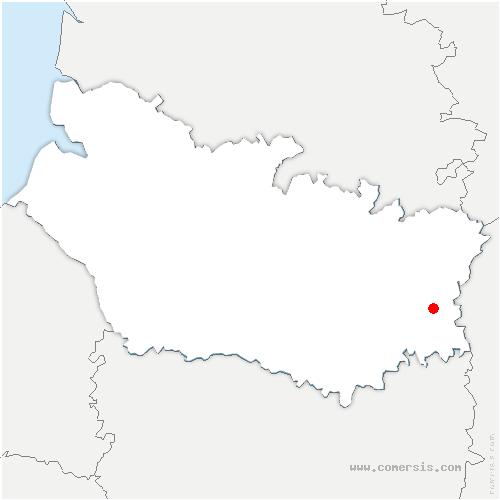 carte de localisation de Croix-Moligneaux