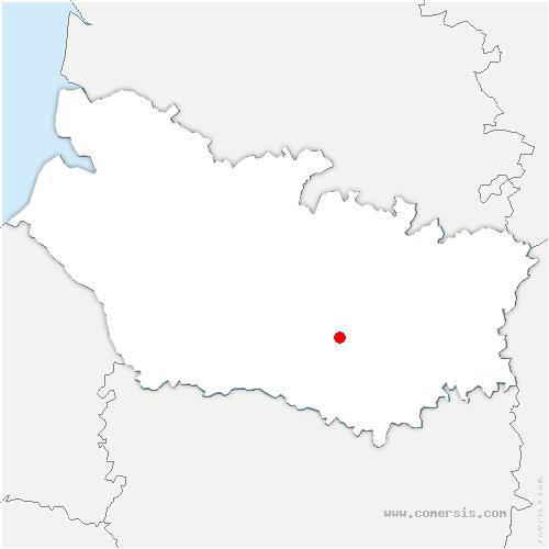 carte de localisation de Démuin