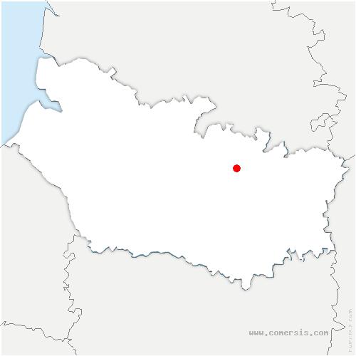 carte de localisation de Dernancourt