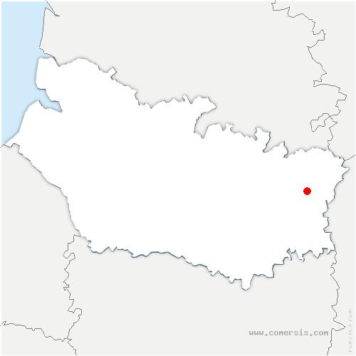 carte de localisation de Doingt