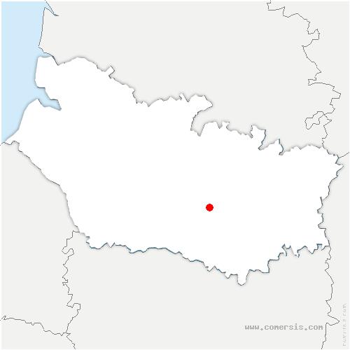 carte de localisation de Domart-sur-la-Luce