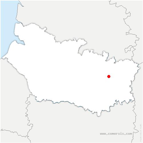 carte de localisation de Dompierre-Becquincourt