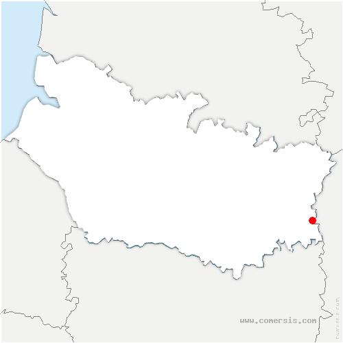 carte de localisation de Douilly