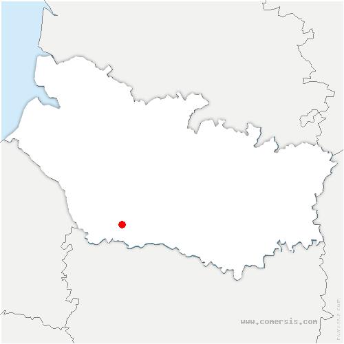 carte de localisation de Famechon