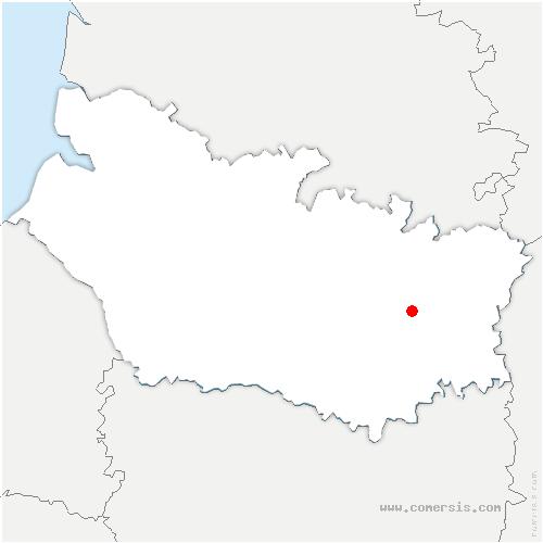carte de localisation de Foucaucourt-en-Santerre