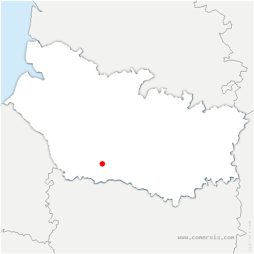 carte de localisation de Frémontiers
