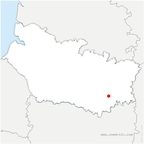 carte de localisation de Fresnoy-lès-Roye