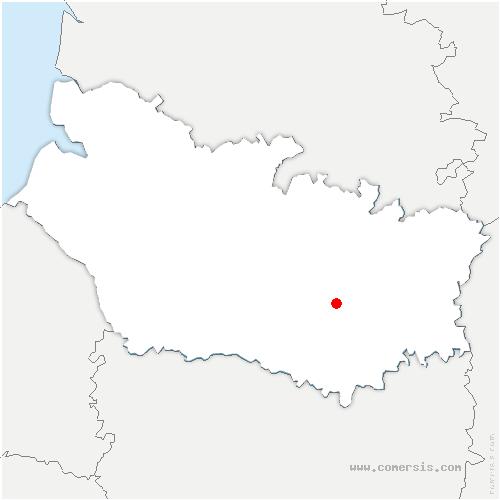 carte de localisation de Guillaucourt