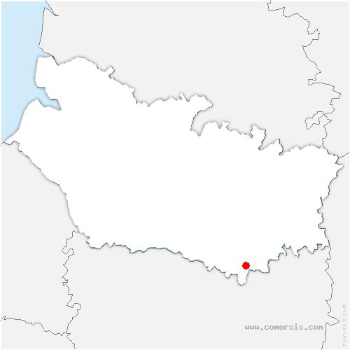 carte de localisation de Laboissière-en-Santerre
