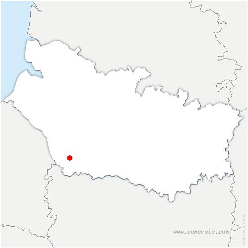 carte de localisation de Lignières-Châtelain