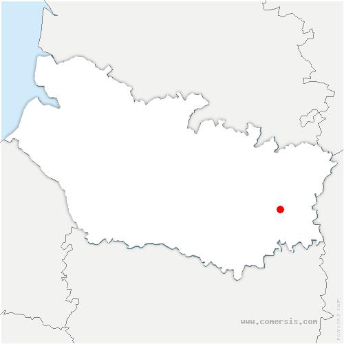 carte de localisation de Marchélepot-Misery