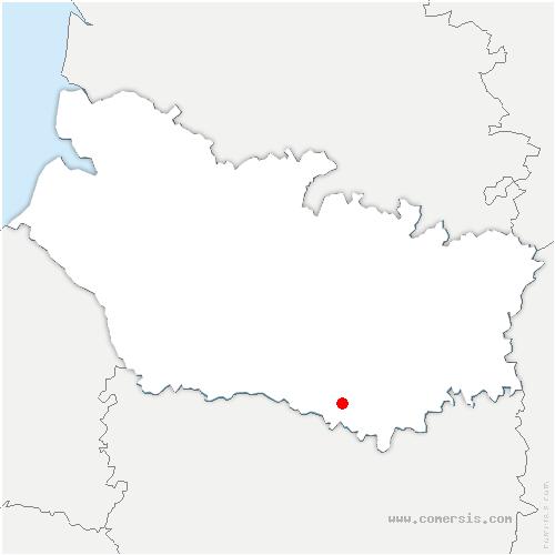 carte de localisation de Marestmontiers