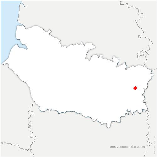 carte de localisation de Mesnil-Bruntel