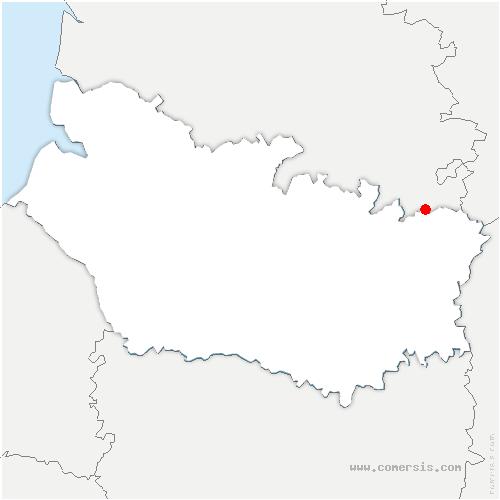 carte de localisation de Mesnil-en-Arrouaise