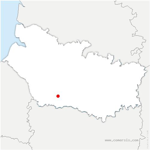 carte de localisation de Moyencourt-lès-Poix