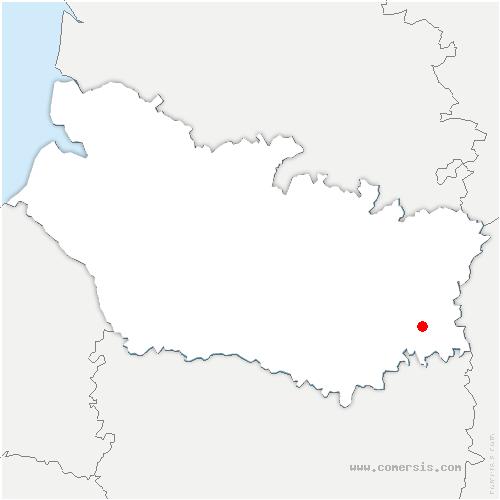 carte de localisation de Nesle