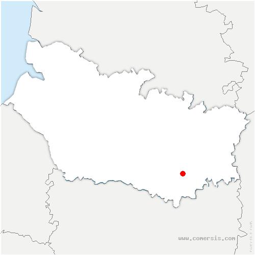 carte de localisation de Parvillers-le-Quesnoy