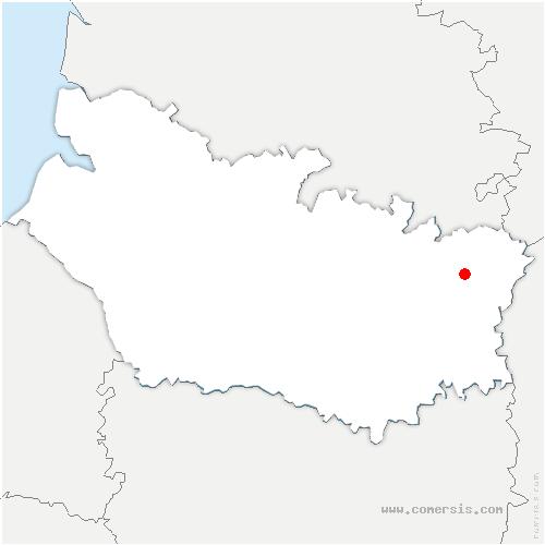 carte de localisation de Péronne