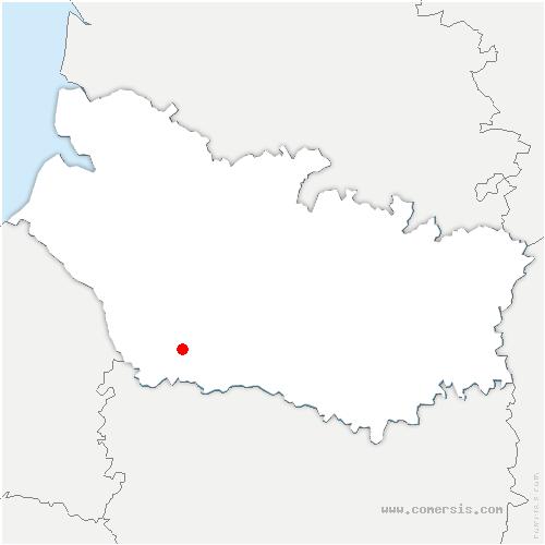 carte de localisation de Poix-de-Picardie