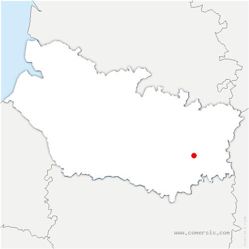 carte de localisation de Puzeaux