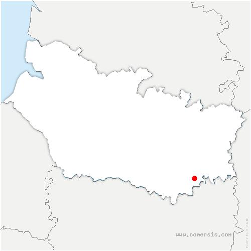 carte de localisation de Roye