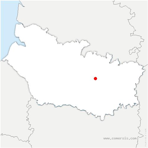 carte de localisation de Sailly-le-Sec