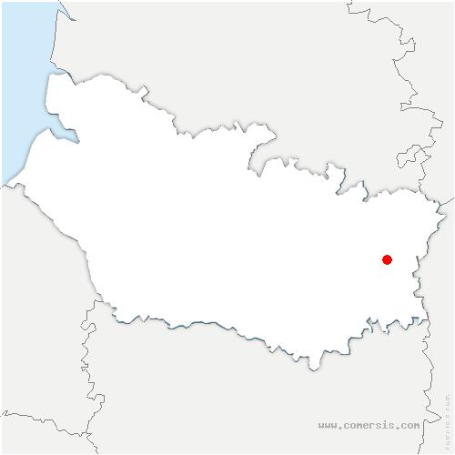 carte de localisation de Saint-Christ-Briost