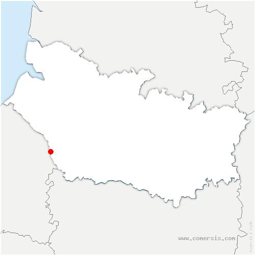 carte de localisation de Saint-Germain-sur-Bresle