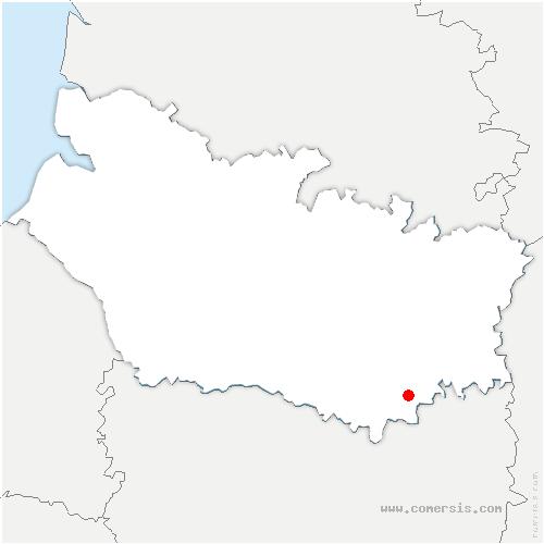 carte de localisation de Saint-Mard