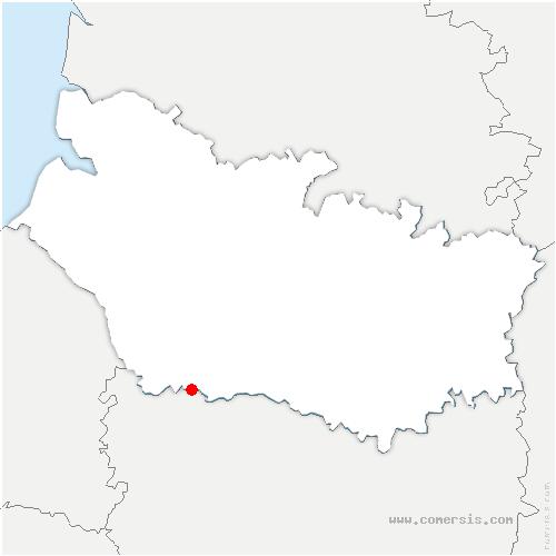carte de localisation de Sentelie