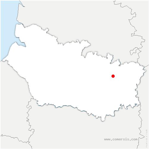 carte de localisation de Suzanne
