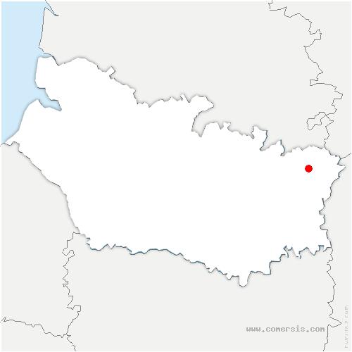 carte de localisation de Templeux-la-Fosse