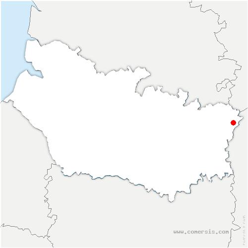 carte de localisation de Templeux-le-Guérard