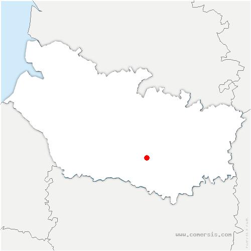 carte de localisation de Thennes