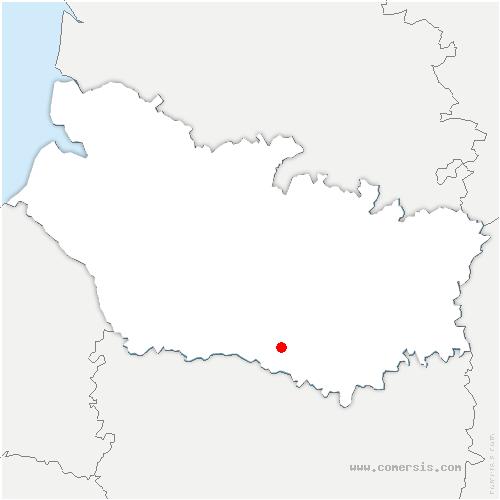 carte de localisation de Thory