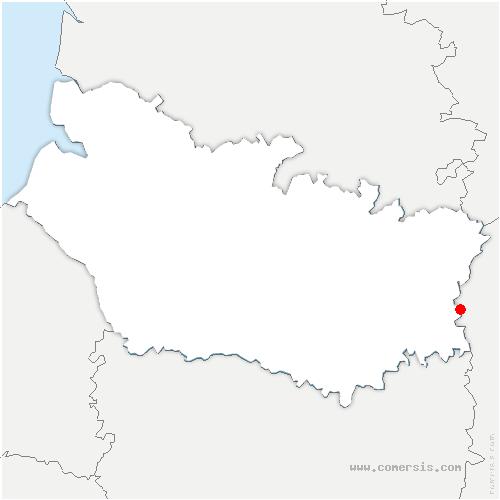 carte de localisation de Ugny-l'Équipée