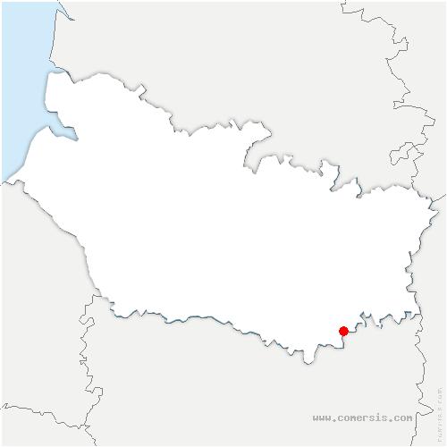 carte de localisation de Verpillières